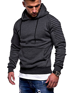 cheap Men's Hoodies & Sweatshirts-Men's Basic Hoodie - Solid Colored