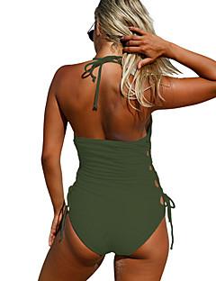 billige Bikinier og damemote 2017-Dame En del - Åpen rygg / Blondér, Cheeky Ensfarget
