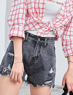billige Kvinde Underdele-Dame Løstsiddende Shorts Bukser Ensfarvet