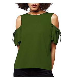 billige Bestselgere  2018-T-skjorte Dame - Ensfarget, Dusk Vintage Svart og hvit