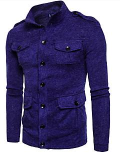 baratos Suéteres & Cardigans Masculinos-Homens Carregam - Sólido, Patchwork