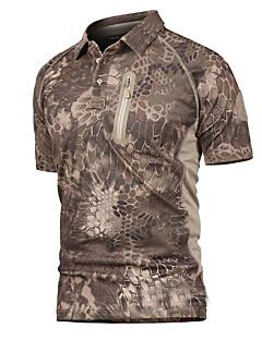tanie Koszulki turystyczne-Męskie T-shirt turystyczny Na wolnym powietrzu Lato Szybkie wysychanie, Oddychalność, Zdatny do noszenia T-shirt Nie dotyczy Kemping i turystyka, Ćwiczenia na zewnątrz, Multisport Czarny Khaki