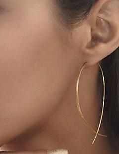 Χαμηλού Κόστους Shixin®-Γυναικεία Κουμπωτά Σκουλαρίκια - Ευρωπαϊκό, μινιμαλιστικό στυλ, Μοντέρνα Μαύρο / Ασημί / Χρυσαφί Για Πάρτι Καθημερινά Causal