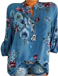 billige Kvinde Toppe-Dame - Geometrisk Basale Skjorte