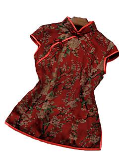 Χαμηλού Κόστους Μπλούζα-Γυναικεία Μπλούζα Κινεζικό στυλ Φλοράλ