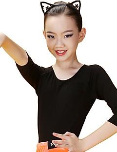 baratos Roupas de Dança Latina-Dança Latina Blusas Mulheres / Para Meninas Treino Modal Combinação Manga 3/4 Natural Blusa