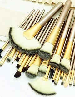 billiga Sminkborstar-24pcs Makeupborstar Professionell Borstsatser Artificiella Fiber-borstar / Nylonborste Miljövänlig / Professionell / Mjuk Trä / Bambu