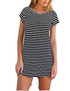 billige Minikjoler-Dame I-byen-tøj A-linje Kjole - Ruder Mini