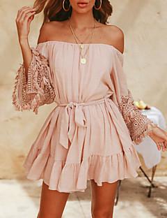 Χαμηλού Κόστους Off Shoulder-Γυναικεία Θήκη Φόρεμα Πάνω από το Γόνατο Ώμοι Έξω