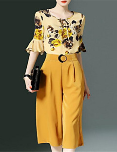 cheap New Arrivals-Women's Basic Set - Solid Colored Pant