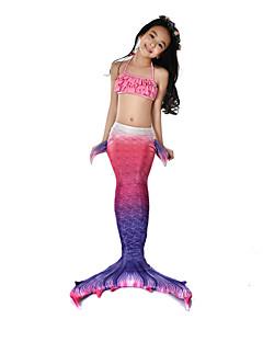 olcso -The Little Mermaid Fürdőruha Bikini Jelmez Lány Gyermek Vintage Mindszentek napja Farsang Fesztivál / ünnepek Mindszentek napi kösztümök ruhák Bíbor Sellő
