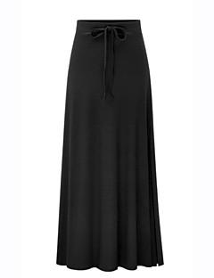 Χαμηλού Κόστους Γυναικεία Παντελόνια & Φούστες-Γυναικεία Εφαρμοστό Κομψό στυλ street / Εκλεπτυσμένο Φούστες - Μονόχρωμο