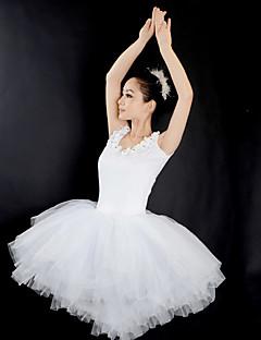tanie Stroje baletowe-Balet Suknie Damskie Wydajność Tiul Zgnioty Bez rękawów Ubierać