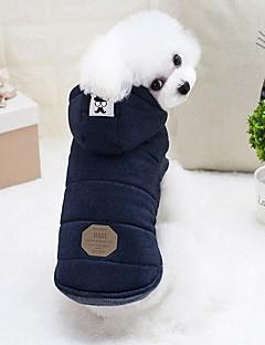 billiga Hundkläder-Gnagare / Hund / Kaniner Dunjackor Hundkläder Enfärgad Grå / Ljusblå Cotton Kostym För husdjur Dam Mode / Euramerikansk