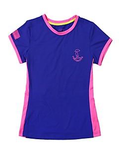tanie Koszulki turystyczne-Damskie T-shirt turystyczny Na wolnym powietrzu Szybkie wysychanie, Oddychalność, Zdatność T-shirt N / Ćwiczenia na zewnątrz
