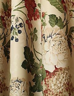 verduisteringsgordijnen gordijnen eetkamer bloemen 100 polyester gedrukt