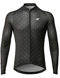 billige Sykkeljerseys-Mysenlan Herre Langermet Sykkeljersey Sykkel Jersey Polyester / YKK-glidelås