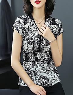 Χαμηλού Κόστους Μπλούζα-Γυναικεία Μπλούζα Βασικό / Κομψό στυλ street Συνδυασμός Χρωμάτων