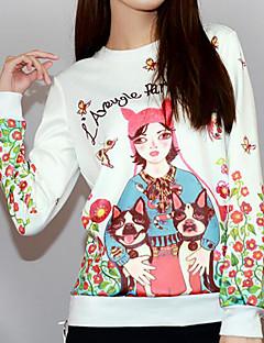 tanie Damskie bluzy z kapturem-Damskie Bawełna Bluza dresowa - Solidne kolory