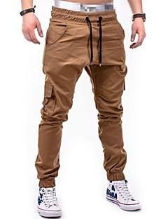 billige Herrebukser og -shorts-menns pluss størrelse bomull chinos / harem bukser - farge blokk