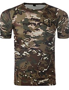 tanie Koszulki turystyczne-Męskie T-shirt turystyczny Na wolnym powietrzu Lato Szybkie wysychanie, Oddychalność, Odporny na UV T-shirt Piesze wycieczki, Ćwiczenia na zewnątrz, Turystyczne Zielony / Żółty Szary Kamuflaż