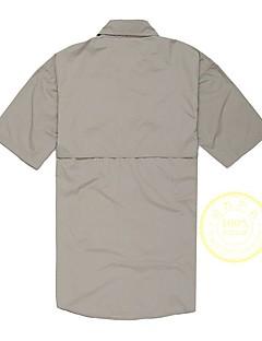baratos Camisetas para Trilhas-Homens Camiseta de Trilha Ao ar livre Secagem Rápida, Design Anatômico, Respirabilidade Camiseta Casual / Exercicio Exterior / Montanhismo