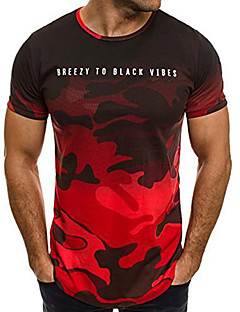 cheap Military-Men's Active / Street chic T-shirt - Camouflage