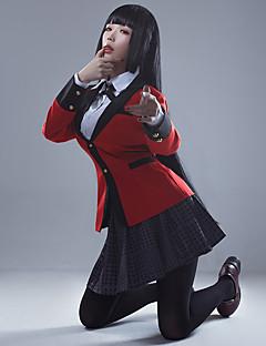 """billige Anime cosplay-Inspirert av Kakegurui Yumeko Jabami Anime  """"Cosplay-kostymer"""" Cosplay Topper / Underdele Animé / Bokstav & Nummer Langermet Halsklut / Frakk / Genser Til Dame Halloween-kostymer"""