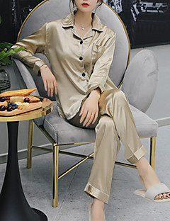 billige Moteundertøy-Dame Firkantet hals Dress Pyjamas - Ensfarget