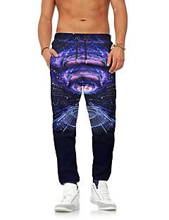 billige Herrebukser og -shorts-Herre Gatemote / overdrevet Chinos / Joggebukser Bukser Galakse