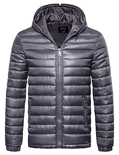 cheap Light Downs-Men's Daily Basic Fall / Winter Regular Leather Jacket, Solid Colored V Neck Sleeveless / Long Sleeve PU Red / Gray / Purple L / XL / XXL