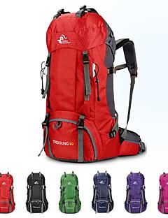 billiga Ryggsäckar och väskor-60 L Ryggsäck - Regnsäker, Torkar snabbt, Bärbar Utomhus Camping, Resor Polyester Fuchsia, Röd, Grön