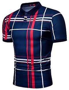 povoljno Muške polo majice-Polo Muškarci - Osnovni Dnevno Prugasti uzorak / Color block Print Crno-crvena / Crno i sivo