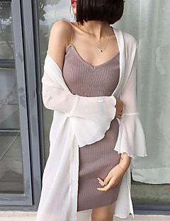 Χαμηλού Κόστους Μπλούζα-Γυναικεία Μπλούζα Βασικό Μονόχρωμο Δίχτυ / Patchwork