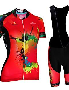 billige Sett med sykkeltrøyer og shorts/bukser-Malciklo Sykkeljersey med bib-shorts - Rød / Hvit / Svart / Rød Sykkel Fort Tørring, Anatomisk design