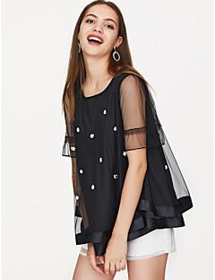 abordables Tee-shirts pour Femme-T-shirt femme - col rond uni