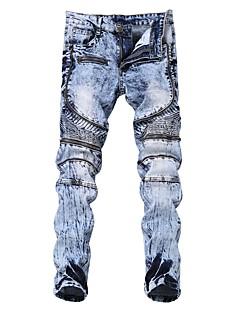billige Herrebukser og -shorts-Herre Punk & Gotisk Jeans Bukser Ensfarget