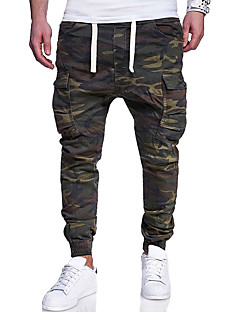 billige Herrebukser og -shorts-Herre Aktiv Chinos Bukser Kamuflasje