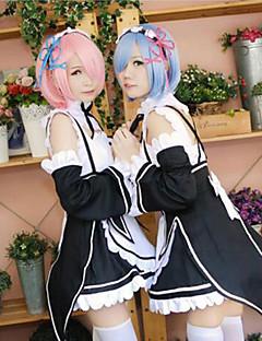 billige Anime cosplay-Cosplay Parykker Re: Zero - Start livet i en annen verden Rem / Ram Anime Cosplay-parykker 29.972 cm CM Varmeresistent Fiber Dame