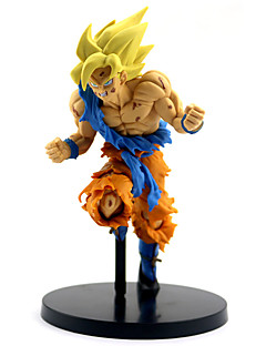 billige Anime cosplay-Anime Action Figurer Inspirert av Dragon Ball Son Goku PVC 22 cm CM Modell Leker Dukke