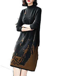 Χαμηλού Κόστους Sweater Dresses-γυναικεία βόλτα πουλόβερ midi πουλόβερ φόρεμα