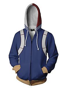 billige Anime Kostymer-My Hero Academy Battle For All / Boku no Hero Academia Todoroki Shoto Hattetrøje Terylene Til Unisex