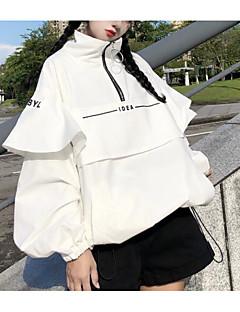 billige T-shirt-Firkantet hals Tynd Dame - Ensfarvet I-byen-tøj T-shirt
