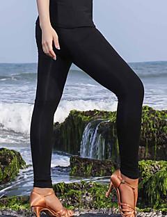 baratos Roupas de Dança Latina-Dança Latina Calça Legging Mulheres Espetáculo Modal Franzido Natural Calças