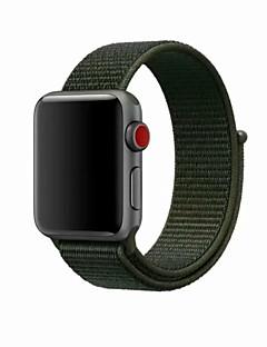 billige Ur Tilbehør-Nylon Urrem Strap for Apple Watch Series 3 / 2 / 1 Blåt / Grøn / Gråt 23cm / 9 tommer 2.1cm / 0.83 Tommer