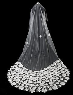 billiga Brudslöjor-Ett lager Vintage Stil / Blomstil Brudslöjor Kapell Slöjor med Kronblad / Enfärgad 118.11 in (300cm) Spets / Tyll