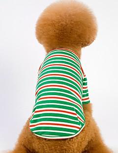 billiga Hundkläder-Hund / Katt Väst Hundkläder Randig Gul / Grön / Blå Cotton Kostym För husdjur Unisex Ledigt / vardag / Uppvärmning