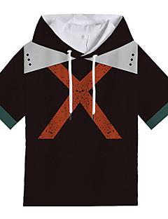 billige Anime Kostymer-My Hero Academy Battle For All / Boku no Hero Academia Cosplay T-skjorte Polyester / Bomull Til Unisex