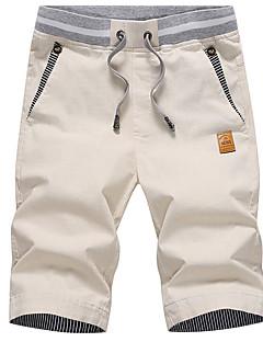 billige Herrebukser og -shorts-Herre Grunnleggende Chinos / Shorts Bukser - Ensfarget Navyblå / Sommer