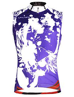 billige Sykkelklær-ILPALADINO Herre Ermeløs Sykkeljersey - Lilla Regnbue Mote Hodeskaller Sykkel Vest Jersey Singleter, Fort Tørring Miljøvennlig Polyester 100% Polyester / Elastisk
